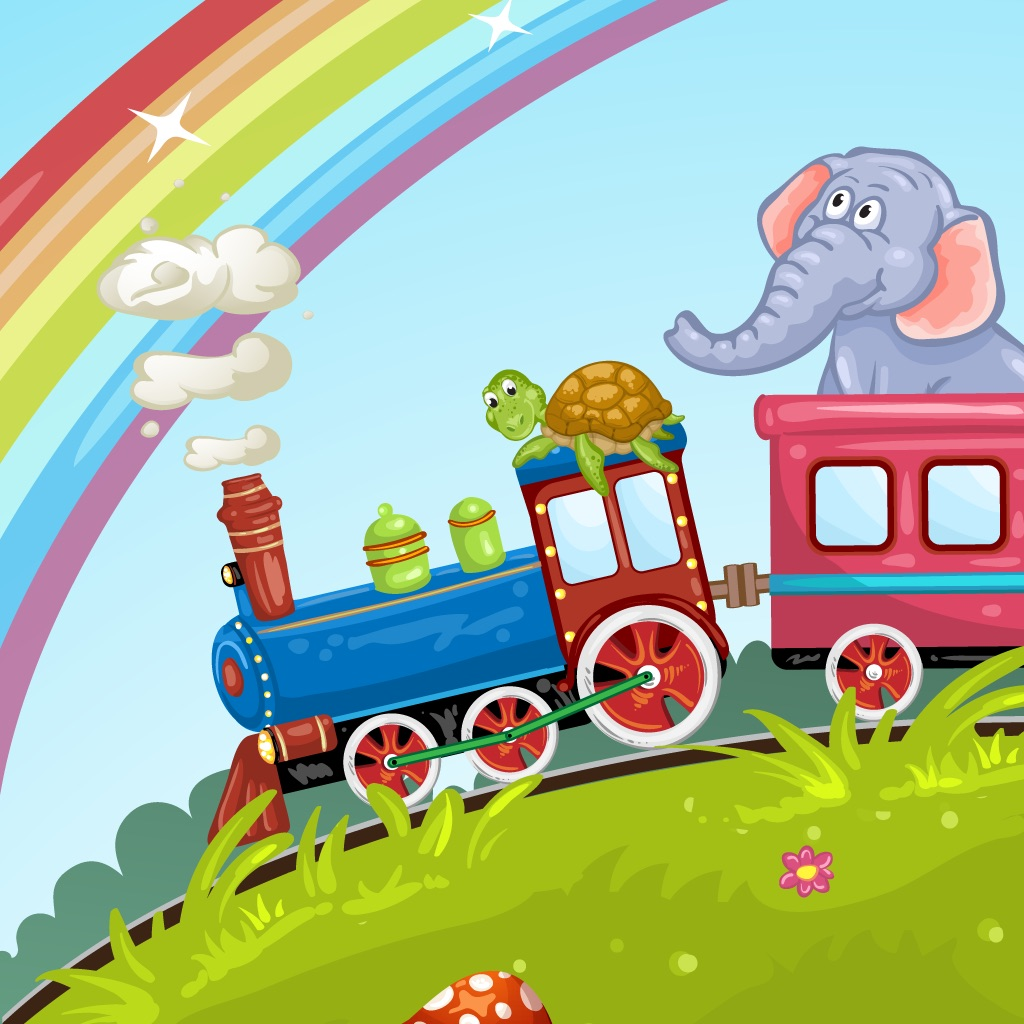 Animals Train for Toddlers Fun hack