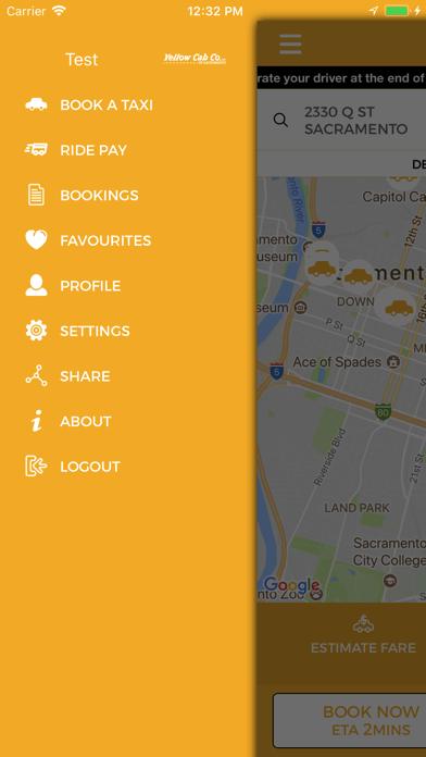 Yellow Cab Co of Sacramento screenshot two