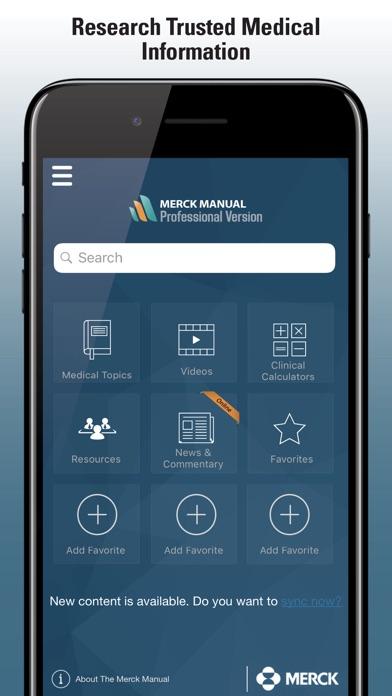 Merck Manual Professional review screenshots