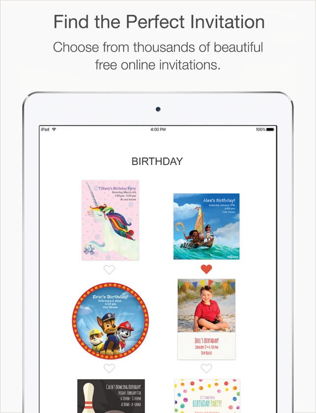 Punchbowl Online Invitations Im App Store