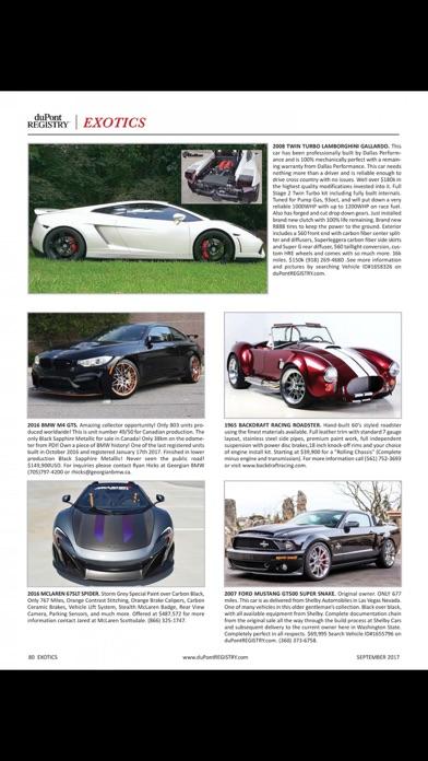 duPont REGISTRY Fine Automobiles Screenshot