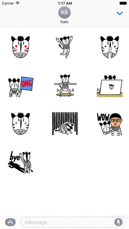 Zebra Man ZebraMoji Sticker