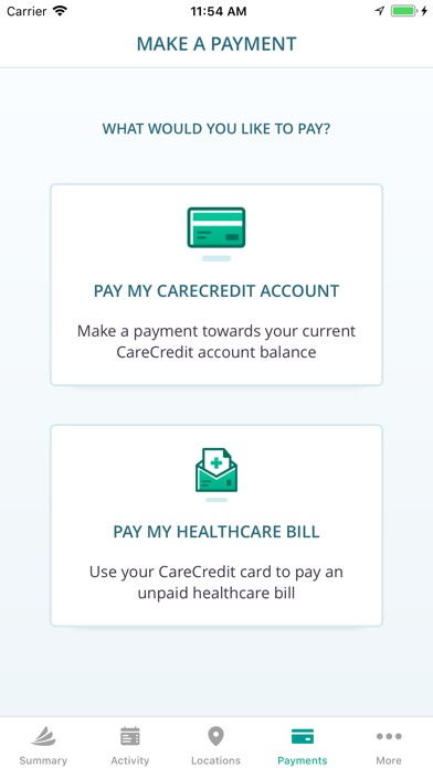 Screenshot for CareCredit Mobile App in United States App Store
