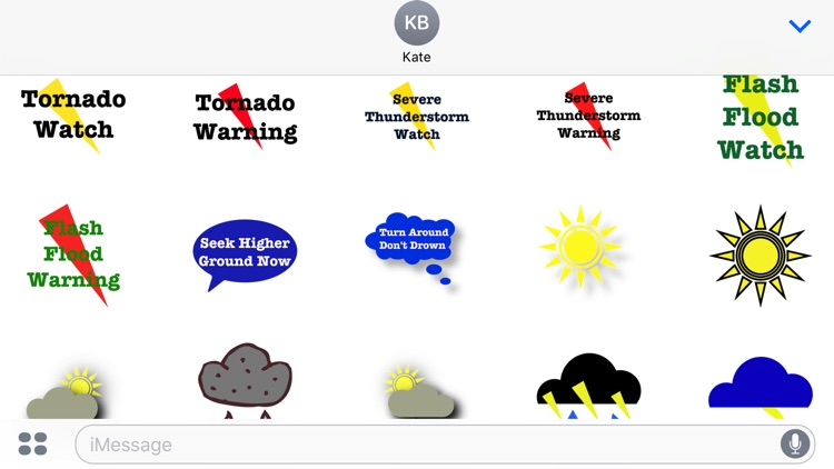 Weather Alert Stickers