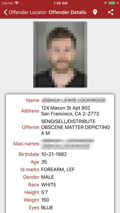 Offender Locator Lite iPhone