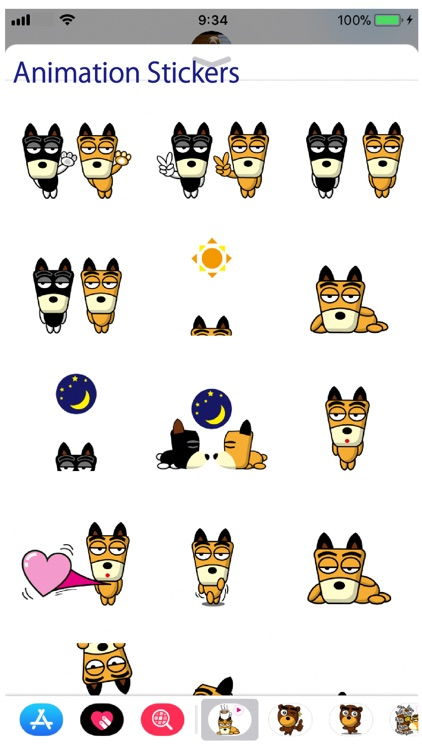 TF-Dog Animation 7 Stickers screenshot-0