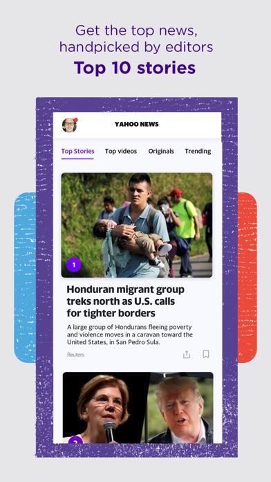 Yahoo News review screenshots