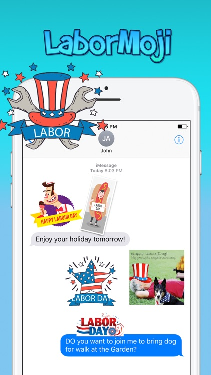 LaborMoji - Labor Day Stickers