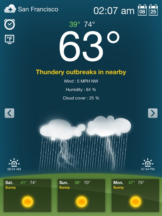 Weather for iPad Free screenshot-2