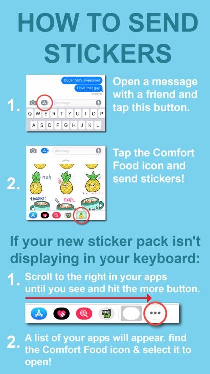 Comfort Food Stickers screenshot-5