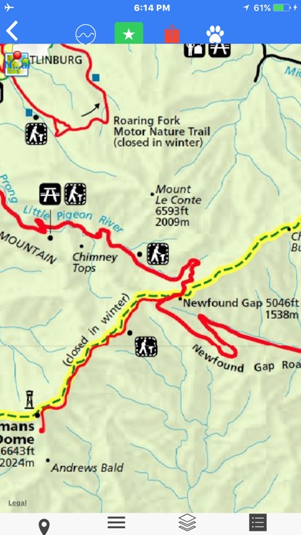 Great Smoky Mountain Tour Maps