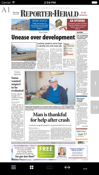 The Pueblo Chieftain eEdition Screenshot on iOS