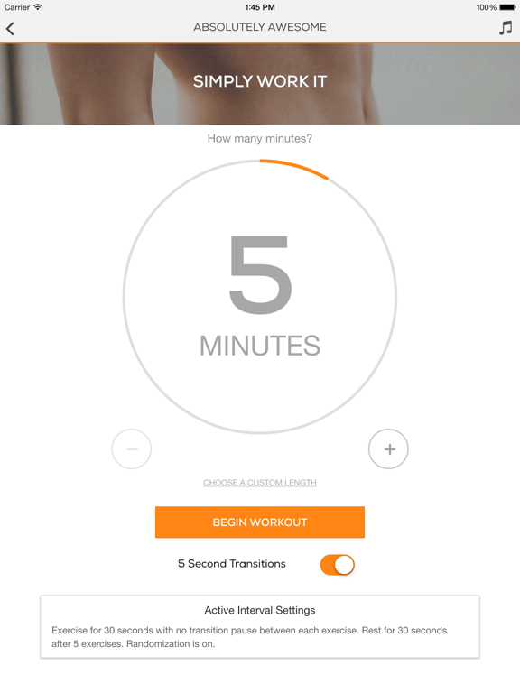 Ab & Core Sworkit - Free Workout Trainer for Six Pack Abs and Back Strength screenshot
