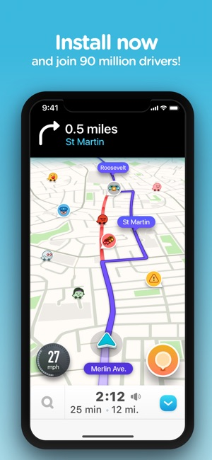 gps app for iphone waze navigation amp live traffic on the app 3649