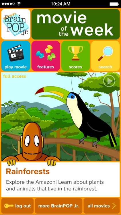 BrainPOP Jr. Movie of the Week screenshot-0
