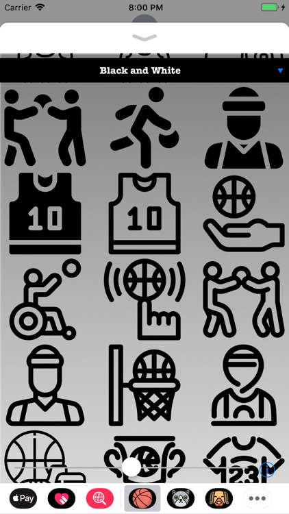 HD Basketball Stickers
