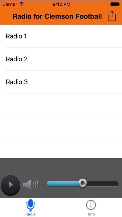 Radio for Clemson Football