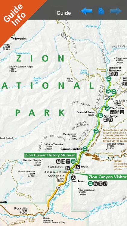 Zion National Park gps and outdoor map with Guide screenshot-3
