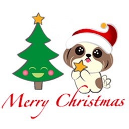 Merry Christmas Shih Tzu Dog