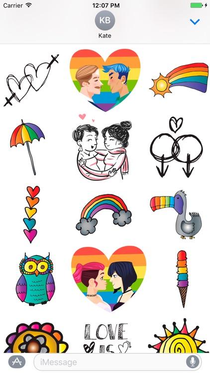 Respect Me LGBT Emoji, Sticker