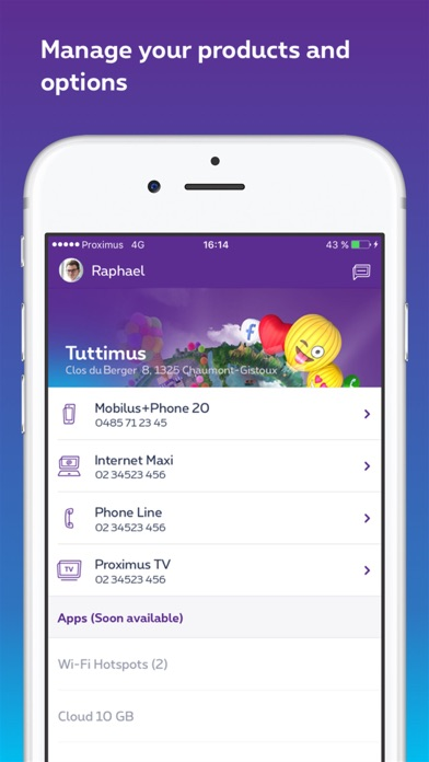 Screenshot for MyProximus in Belgium App Store