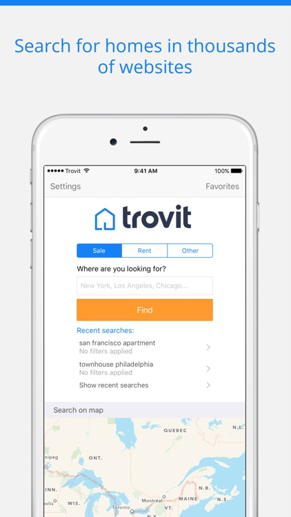 Homes for sale and for rent - Trovit Real Estate screenshot-0