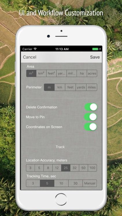 Planimeter - GPS area measure screenshot-8