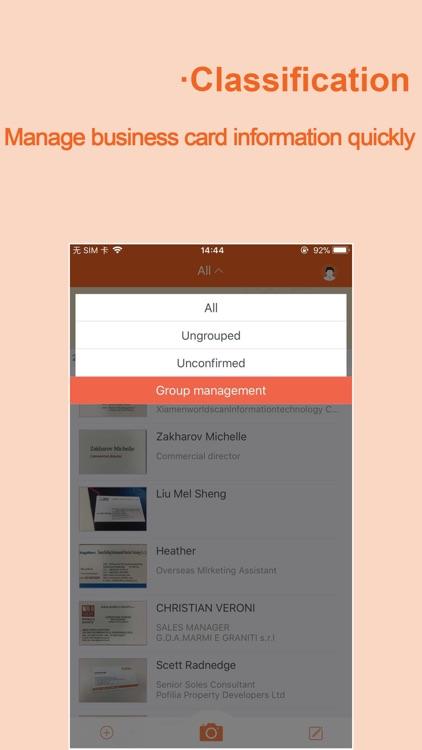 WeCard&business card scanner screenshot-3