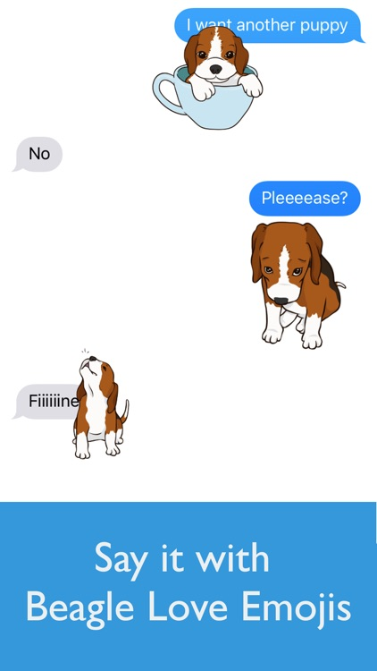 Beagle Love Emojis