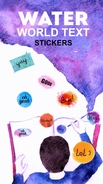 Watercolor - Text Stickers