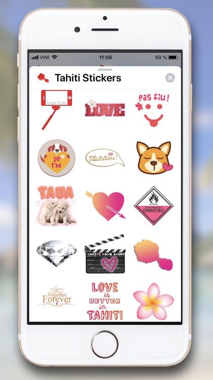 Tahiti Stickers for iMessage screenshot-6