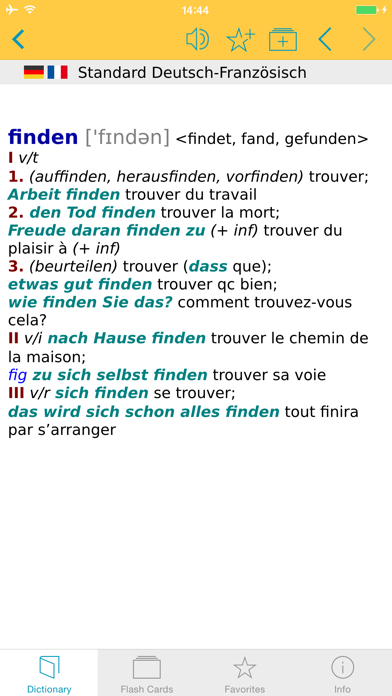 Big German French Dictionary screenshot one