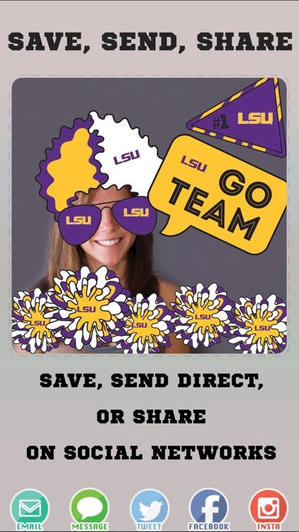 LSU Tigers PLUS Selfie Stickers screenshot-3