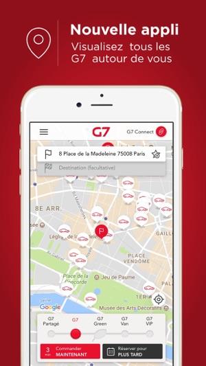 g7 taxi commande de taxi dans l app store. Black Bedroom Furniture Sets. Home Design Ideas