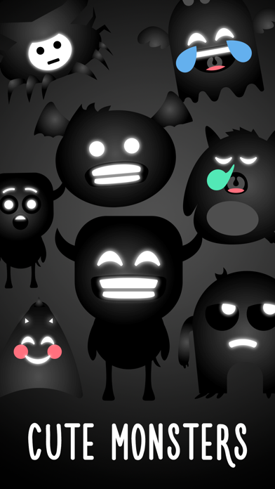 Cute Monsters - Funny and Creepy Stickers screenshot one
