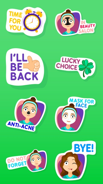 Fiona the Cute Girl Stickers