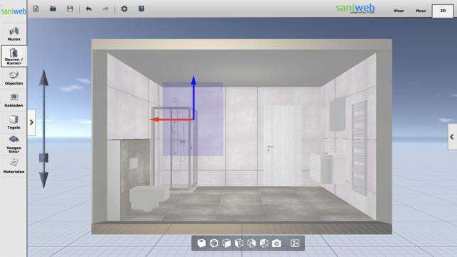 Saniweb badkamer 3d tool on the app store for Badkamer ontwerpen 3d mac
