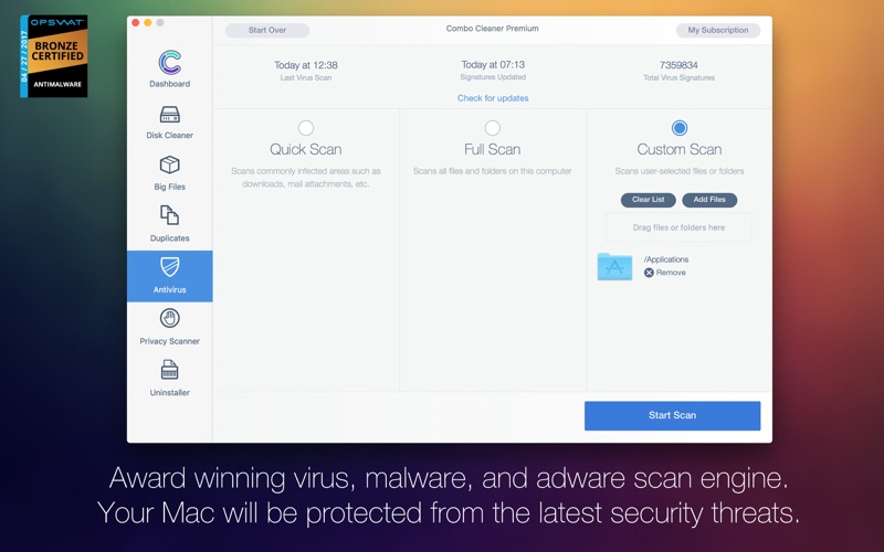 Combo Cleaner Antivirus: Anti Adware, Disk Cleaner for Mac