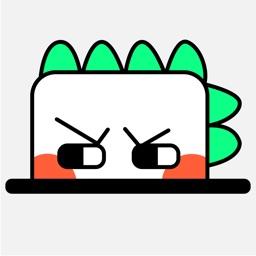 Animated Dinosaurs Stickers