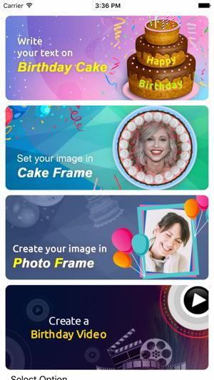 Name On Birthday Cake Photo On The App Store