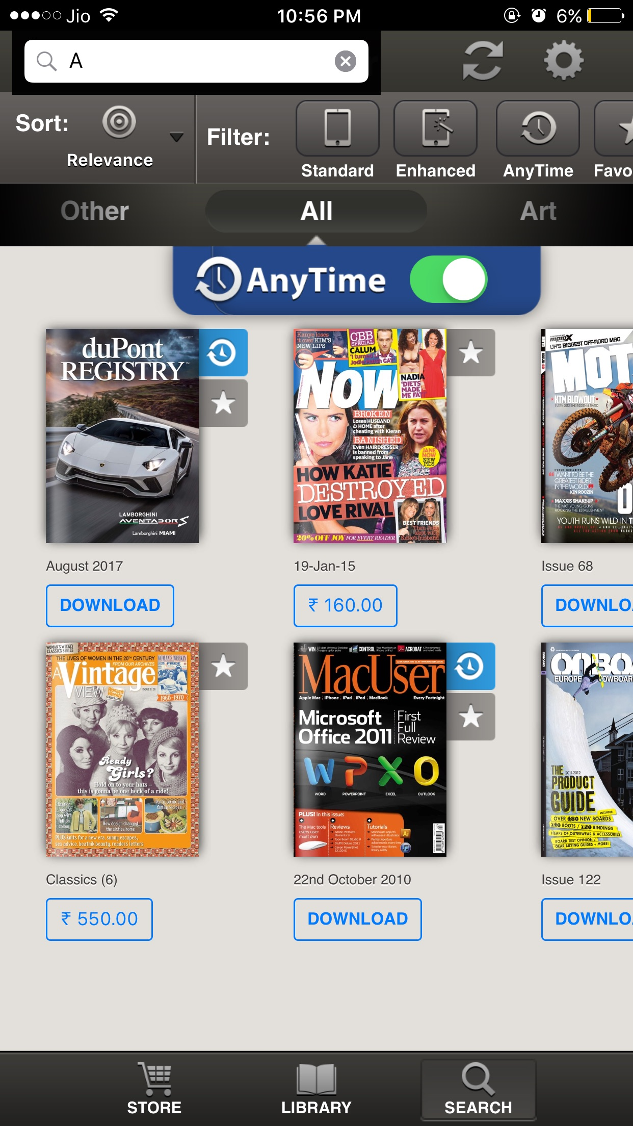Readr - 10K Magazine Newsstand Screenshot