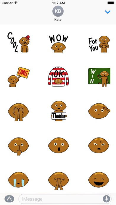 Rugby Ball Emoji Sticker screenshot 2