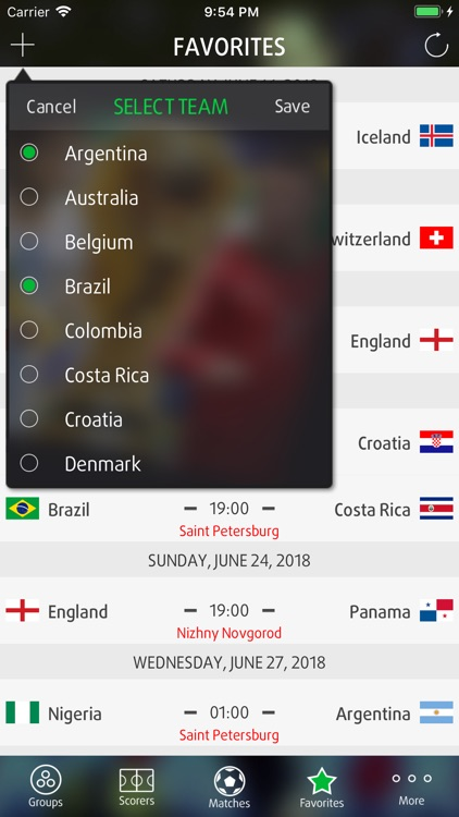 Live Scores for World Cup 2018 screenshot-4