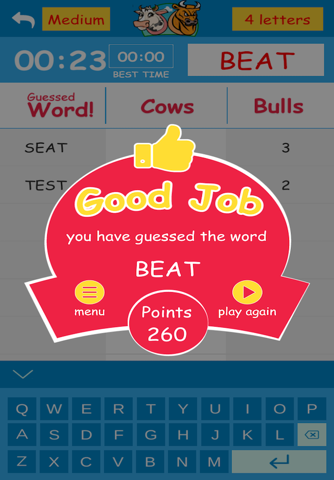 Cows & Bulls – Guess the Word - náhled