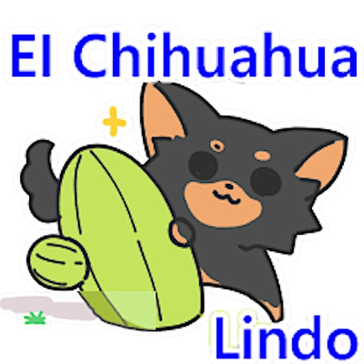 Cute Chihuahua Spanish Sticker