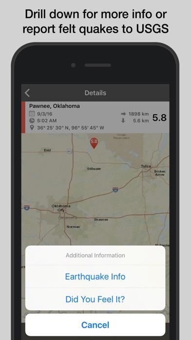 Quakefeed Earthquake Alerts review screenshots