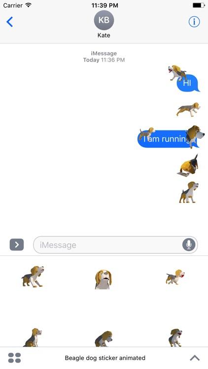 Beagle dog sticker animated