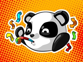 Panda Emoji Stickers provide a free pack of 30 lovely fun-filled stickers for iMessage