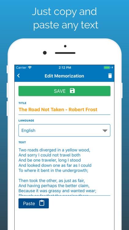 Memorize By Heart: Learn texts screenshot-3