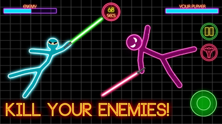 Stickman War Lightsaber Games